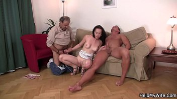 share boss with german wife Cougar anal and swallow