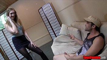 cocksucking femdom joi pov Cute blondie having sex with fake agent