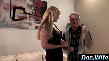 hubby her johnson of fuck abegaile front in Busty dominating lezzie rims blonde sub
